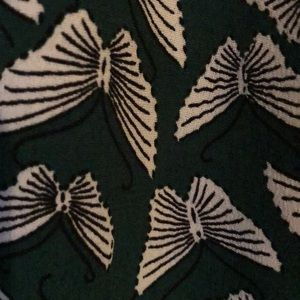 Anthropologie Pants - Anthropologie green butterfly palazzo pants.